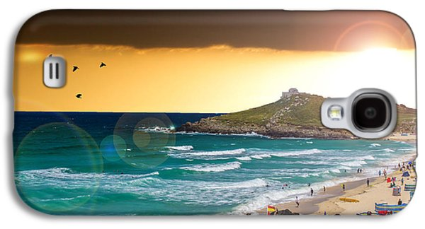 Beach Landscape Galaxy S4 Cases - St Ives Cornwall UK Galaxy S4 Case by Martin Newman