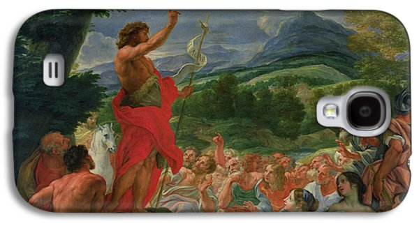 Baptist Paintings Galaxy S4 Cases - St John the Baptist Preaching Galaxy S4 Case by II Baciccio - Giovanni B Gaulli