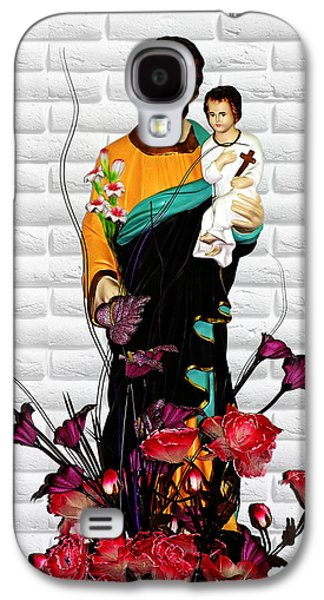 Saint Joseph Galaxy S4 Cases - St Joseph holding Baby Jesus - Catholic Church Qibao China Galaxy S4 Case by Christine Till