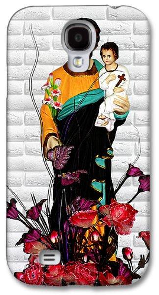 St Joseph Holding Baby Jesus - Catholic Church Qibao China Galaxy S4 Case by Christine Till