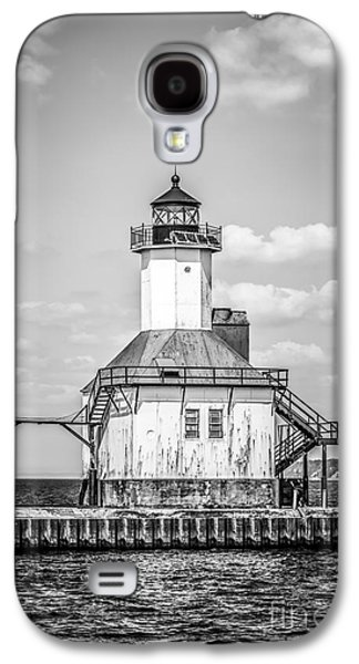 St. Joseph Michigan Lighthouse In Black And White Galaxy S4 Case by Paul Velgos