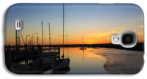 Boats At Dock Galaxy S4 Cases - St. Marys Sunset Galaxy S4 Case by M J Glisson