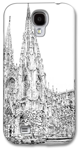 Worship Drawings Galaxy S4 Cases - St Patricks Cathedral Galaxy S4 Case by Anthony Butera