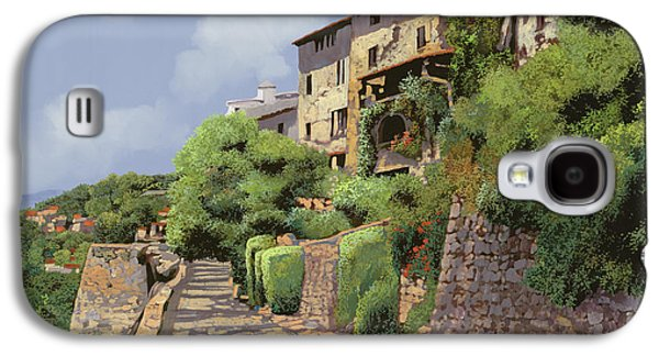 Gallery Paintings Galaxy S4 Cases - St Paul de Vence Galaxy S4 Case by Guido Borelli