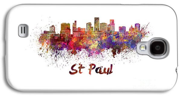 Colorful Abstract Galaxy S4 Cases - St Paul skyline in watercolor Galaxy S4 Case by Pablo Romero