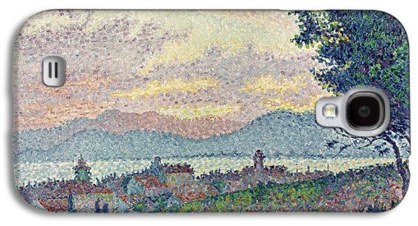 St Tropez Pinewood Galaxy S4 Case by Paul Signac