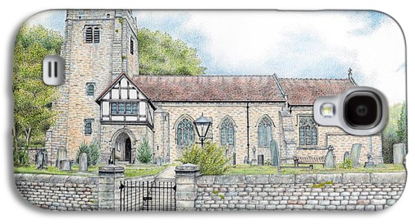 Church Drawings Galaxy S4 Cases - St Wilfrids Church Halton Lancashire Galaxy S4 Case by Sandra Moore