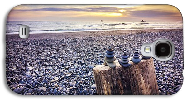 Stacked Rocks At Sunset Galaxy S4 Case by Joan McCool