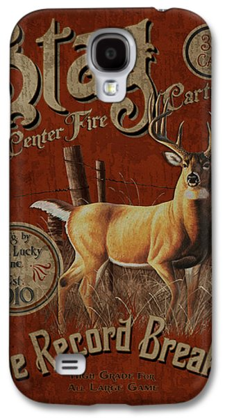 Deer Galaxy S4 Cases - Stag Record Breaker Sign Galaxy S4 Case by JQ Licensing