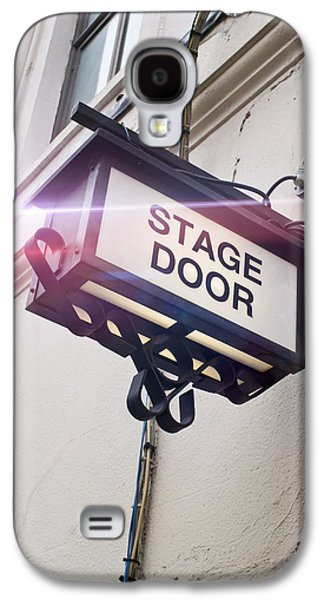Stage Door Sign Galaxy S4 Case by Tom Gowanlock