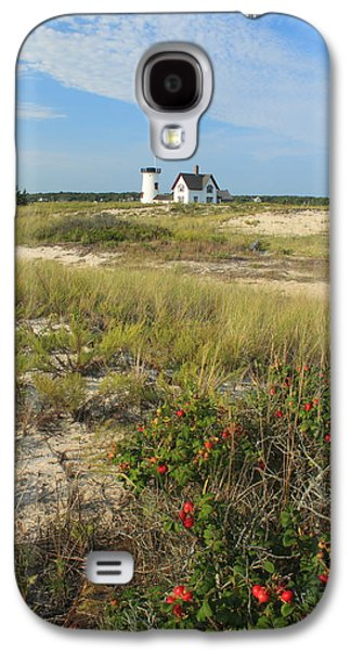 Chatham Galaxy S4 Cases - Stage Harbor Lighthouse Cape Cod Galaxy S4 Case by John Burk