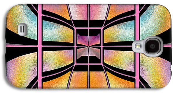 """""""geometric Art"""" Galaxy S4 Cases - Stained Glass 7 Galaxy S4 Case by Cheryl Young"""