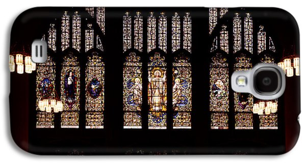 Religious Glass Art Galaxy S4 Cases - Stained Glass - Abyssinian Baptist Church Harlem Galaxy S4 Case by Mountain Dreams