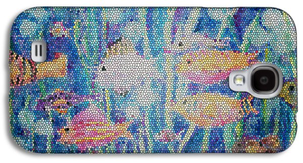 Schools Of Fish Galaxy S4 Cases - Stained Glass Fish Galaxy S4 Case by Arline Wagner