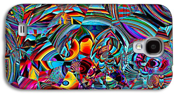 Modern Abstract Tapestries - Textiles Galaxy S4 Cases - Stained Glass Glitch Galaxy S4 Case by Marcus Mattern