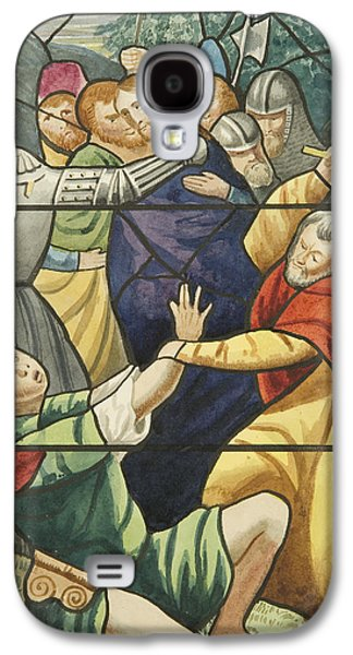 Stained Glass In St Mark's  The Taking Of Christ  Galaxy S4 Case by Joseph Manning