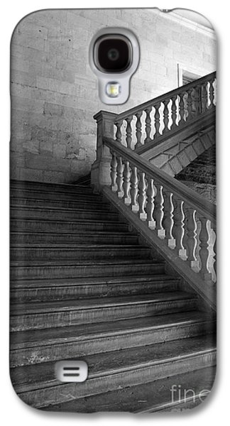 Fantasy Photographs Galaxy S4 Cases - Stair in Carlos V Palace in the Alhambra Palace BN Galaxy S4 Case by Guido Montanes Castillo
