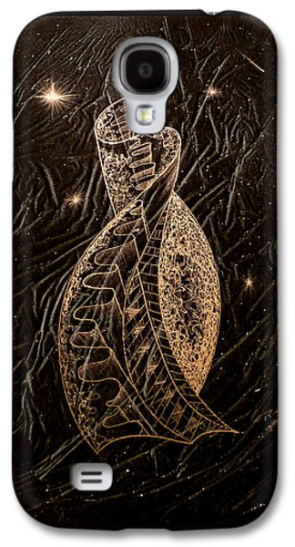 Abstracted Glass Art Galaxy S4 Cases - Stairway to Heaven Galaxy S4 Case by Rick Silas