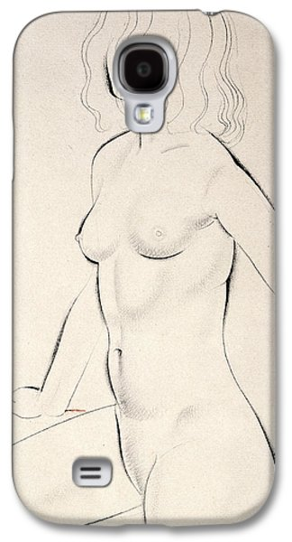Nudes Pastels Galaxy S4 Cases - Standing Female Nude Galaxy S4 Case by Eric Gill