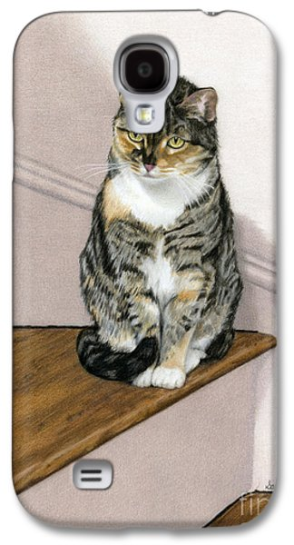 Wooden Stairs Galaxy S4 Cases - Stanzie Cat Galaxy S4 Case by Sarah Batalka