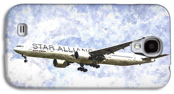 Star Alliance Galaxy S4 Cases - Star Alliance Boeing 777 Art Galaxy S4 Case by David Pyatt