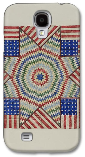 Americans Tapestries - Textiles Galaxy S4 Cases - Star And Flag Design Quilt Galaxy S4 Case by Fred Hassebrock