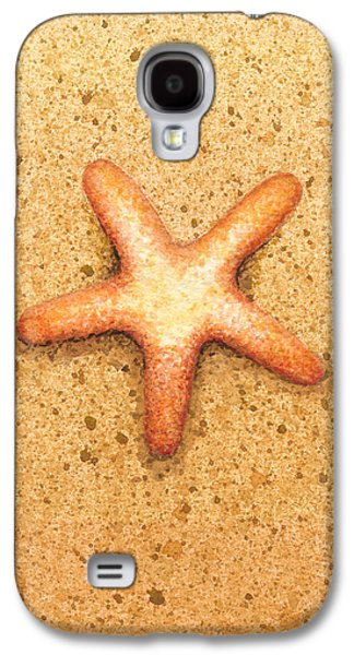 Watercolor Paintings Galaxy S4 Cases - Star Fish Galaxy S4 Case by Katherine Young-Beck