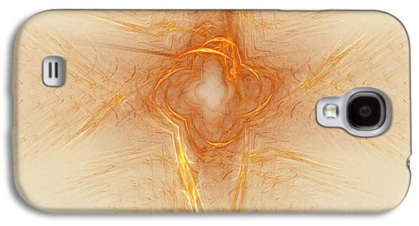 Abstract Digital Galaxy S4 Cases - Star In Abstract Galaxy S4 Case by Deborah Benoit