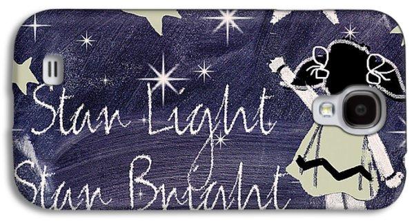 Nursery Rhyme Galaxy S4 Cases - Star Light Star Bright Chalk Board Nursery Rhyme Galaxy S4 Case by Mindy Sommers