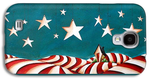 Patriotism Paintings Galaxy S4 Cases - Star Spangled Galaxy S4 Case by Cindy Thornton