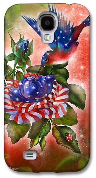 4th July Mixed Media Galaxy S4 Cases - Star Spangled Hummer Galaxy S4 Case by Carol Cavalaris