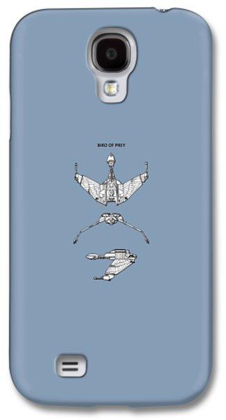 Star Trek - Bird Of Prey Patent Galaxy S4 Case by Mark Rogan