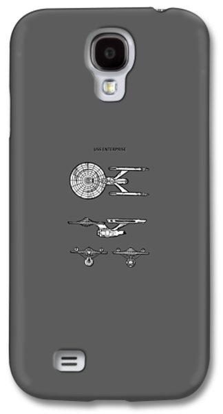 Star Trek - Uss Enterprise Patent Galaxy S4 Case by Mark Rogan