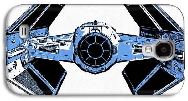 Star Wars Tie Fighter Advanced X1 Galaxy S4 Case by Edward Fielding