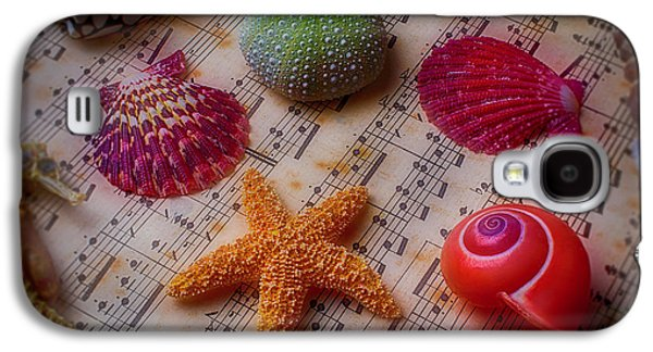 Starfish On Sheet Music Galaxy S4 Case by Garry Gay