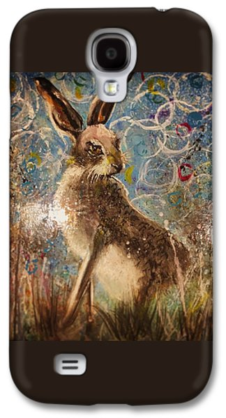 Staring Hare  Galaxy S4 Case by Carole Hall