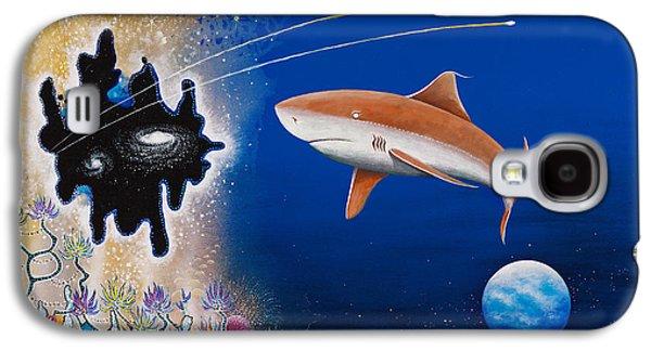 Recently Sold -  - Angel Mermaids Ocean Galaxy S4 Cases - Starry Eyed Shark Galaxy S4 Case by Lee Pantas