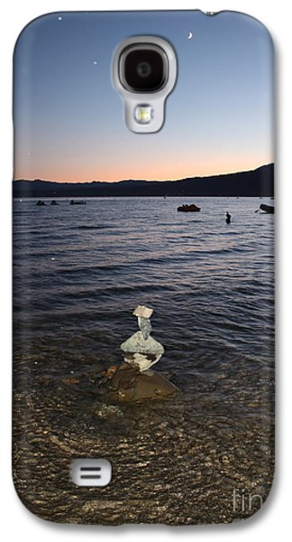 Waterscape Reliefs Galaxy S4 Cases - Starry Sky over Lake Tahoe Galaxy S4 Case by Carol Groenen