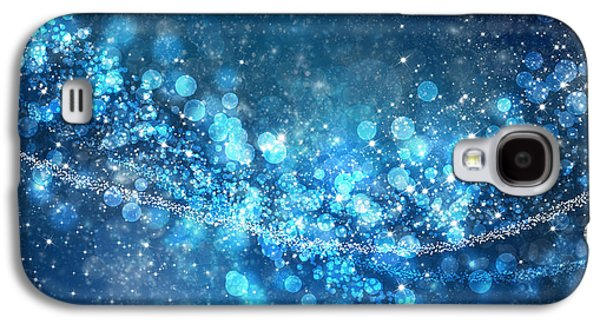 Blue Abstract Galaxy S4 Cases - Stars And Bokeh Galaxy S4 Case by Setsiri Silapasuwanchai