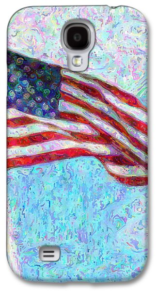 Red White And Blue Mixed Media Galaxy S4 Cases - Stars and Stripes Galaxy S4 Case by Colleen Kammerer