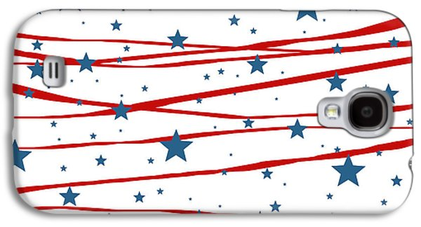 4th July Digital Galaxy S4 Cases - Stars and Stripes Galaxy S4 Case by Marianna Mills