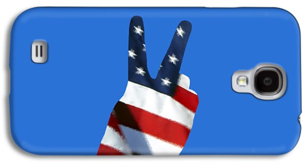4th July Galaxy S4 Cases - Stars and Stripes Peace Sign .png Galaxy S4 Case by Al Powell Photography USA