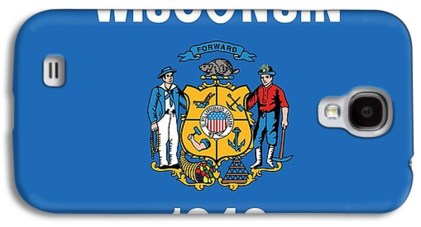 State Flag Of Wisconsin Galaxy S4 Case by American School