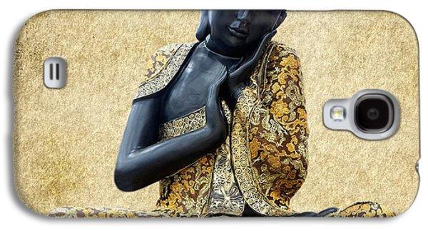 Statue Portrait Galaxy S4 Cases - Statue of Buddha Galaxy S4 Case by Sheela Ajith