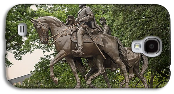 Animals Sculptures Galaxy S4 Cases - Statue of General Robert E Lee on His Horse Traveller  Galaxy S4 Case by Mountain Dreams
