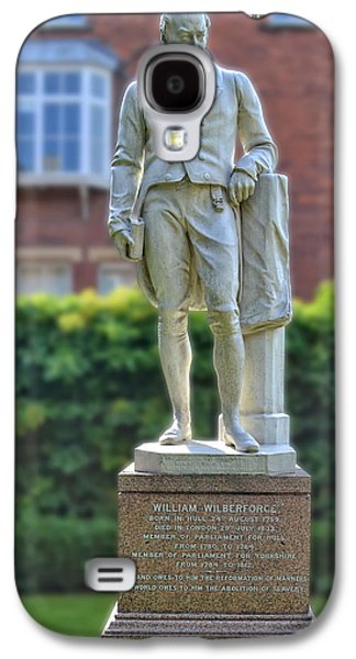 Slavery Galaxy S4 Cases - Statue of William Wilberforce Hull Galaxy S4 Case by Anthony Murphy