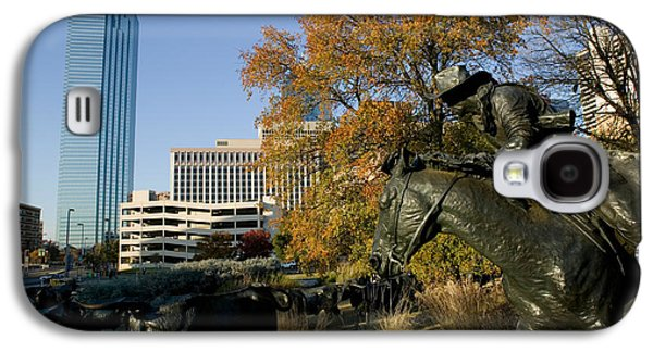 Statues In A Park, Cattle Drive Galaxy S4 Case by Panoramic Images