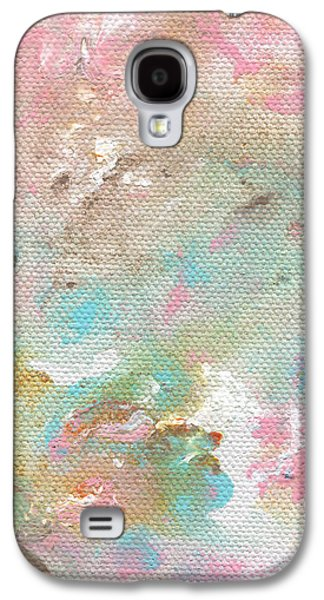 Marble Galaxy S4 Cases - Stay- Abstract Art by Linda Woods Galaxy S4 Case by Linda Woods