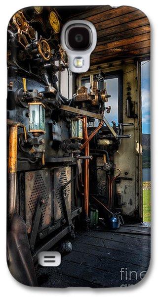 Wooden Platform Galaxy S4 Cases - Steam Locomotive Footplate Galaxy S4 Case by Adrian Evans
