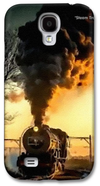 Abstract Digital Pastels Galaxy S4 Cases - Steam Train Memories Catus 1 no. 2 H A Galaxy S4 Case by Gert J Rheeders